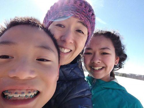 snow sledding parenting